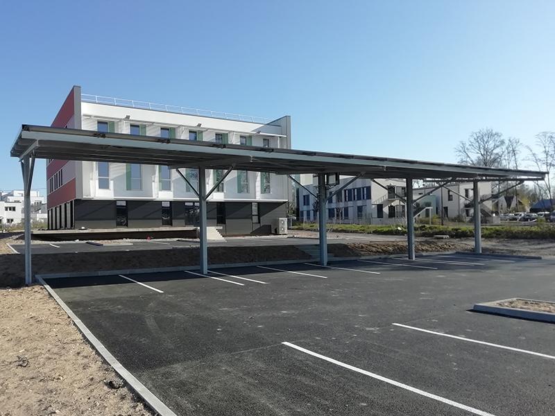 réalisation par 2MA Structure, entreprise basée à Tours de l'avant-projet d'une ombrière pour une entreprise à Montlouis sur Loire