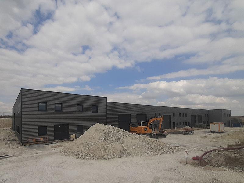 construction d'un bâtiment industriel, projet piloté par 2MA Structure