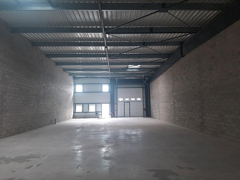 projet piloté par 2MA Structure : bâtiment industriel, partie entrepôt