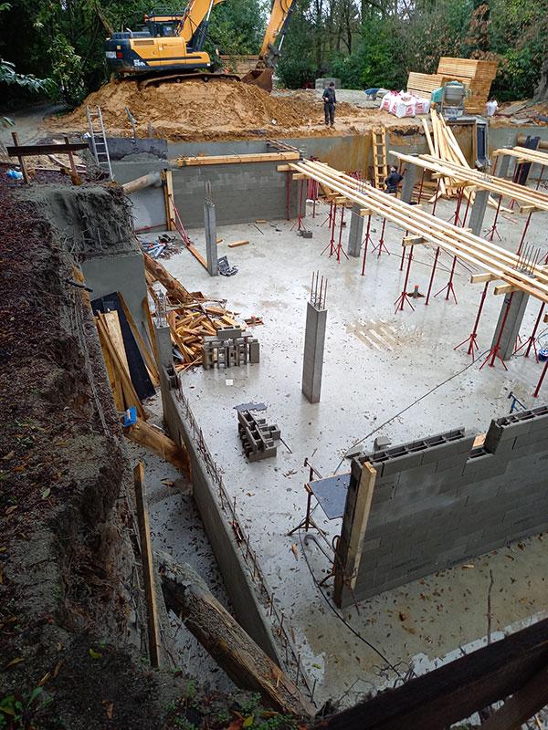 projet de construction avec béton projeté by 2MA Structure